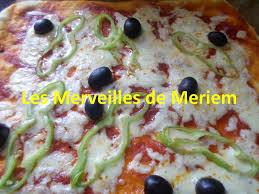 cuisine de meriem recette de pizza au poivron les merveilles de meriem