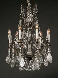 Bronze Chandelier With Crystals French Reproduction Louis Xv Bronze Chandelier French Antique Shop