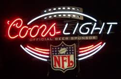 vintage coors light neon sign coors light nfl neon sign