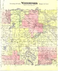 Michigan Township Map by Waterford Historical Maps Waterford Mi