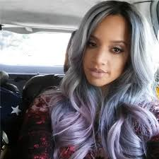 salt and pepper hair with lilac tips dascha polanco s stunning new gray hair is everything dascha