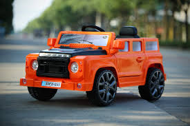 kids electric jeep orange 4 4 defender off roader u2013 12v kids u0027 electric ride on car