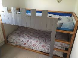 child u0027s low height loft bed ikea kura modified in castle theme
