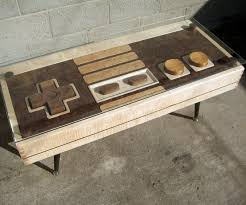 coffee table with cooler working nintendo controller coffee table dudeiwantthat com