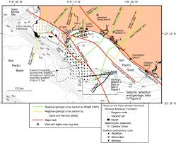 Newport Inglewood Fault Map The Offshore Palos Verdes Fault Zone Near San Pedro Southern