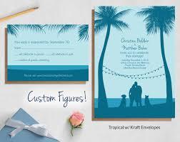 beachy wedding invitations custom illustrated wedding invites blue weddings