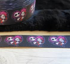 skellington ribbon nightmare before christmas 5 yards ribbon grosgrain ribbon 25