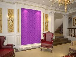 classic luxury interior idea feature curved line and purple