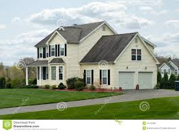 modern colonial house stock images image 14120384