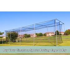 Backyard Batting Cages Reviews Cimarron Sports 24 Batting Cage Net With Frame Corners 50x12x10