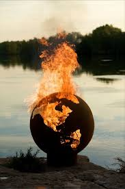 Rock Firepits Pit Third Rock Globe Shaped 36 Handcrafted Carbon