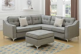 Grey Sofa Sectional by Grey Polyfiber Couch Sectional Sofa Ottoman Set