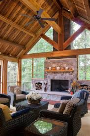 rustic porch porch rustic with screened porch wood burning fireplace