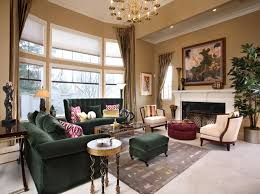 Green Sofa Living Room Traditional Living Room