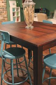 counter height farmhouse table home table decoration