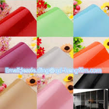 china rigid pvc film solid color self adhesive pvc contact paper