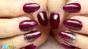 acrylic nails autumn berry colour acrylic nails gel polish