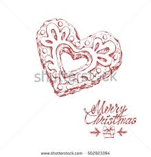 hand drawn sketches christmas cookie on stock vector 534096925