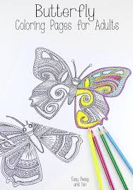 easy peasy coloring page butterfly coloring pages for adults easy peasy butterfly and