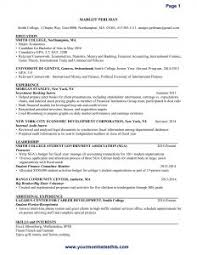 Sample Of One Page Resume by Examples Of Resumes Best Resume Sample Good That Get Jobs Within