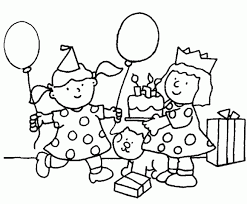 free birthday coloring pages kids birthday coloring pages