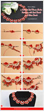 halloween glass beads how to make a delicate red flower choker necklace with seed beads