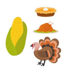 happy thanksgiving day symbols design vector image