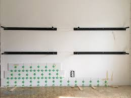 floating kitchen shelves with lights how to install heavy duty floating shelves for the kitchen