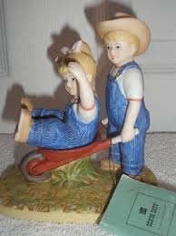 home interior denim days figurines denim days homco homco home interior denim days the wheelbarrow