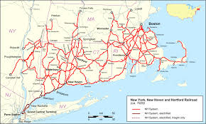 Red Line Mbta Map by New York New Haven And Hartford Railroad Wikipedia