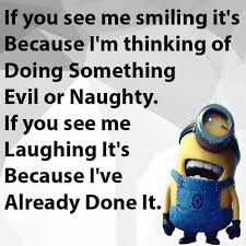 Funny Naughty Memes - evil or naughty minions funny minion quote minion