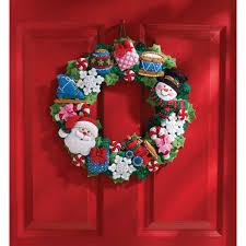 bucilla seasonal felt home decor christmas toys wreath