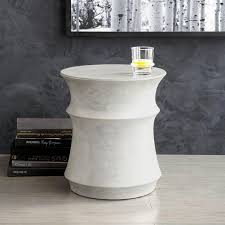 Drum Side Table White Drum Side Table