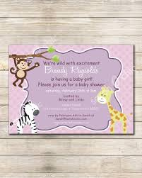 printable safari baby shower invitation sarah o chic