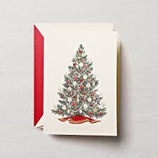 traditional tree greeting cards