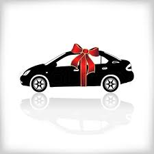 new car gift bow gift car with bow vector illustration stock vector colourbox