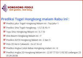 Hongkong Pools Prediksi Hongkong Pools Yang Selalu Tembus Fabiofa
