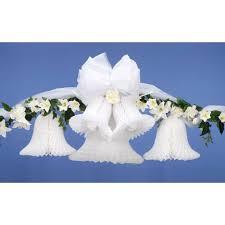 wedding decorations paper tissue wedding bells
