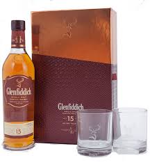Scotch Gift Basket Glenfiddich 15 Year Old Scotch Whisky Gift Set With 2 Glasses