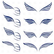 symbolic simple racing wings royalty free vector clip image