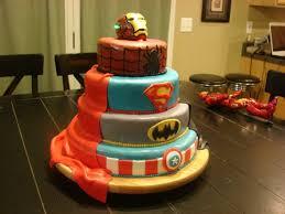 4 tier comic book superhero birthday cake pic global geek news