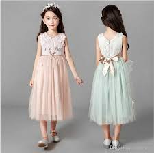 2018 New Kids Girls Tutu Floral Dress Bow Elegant Ruffles Christmas