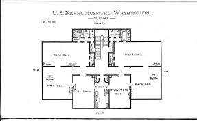 2nd floor plan notes on naval hospitals medical schools and training schools for