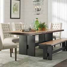 shop scott living natural honey wood live edge dining table at