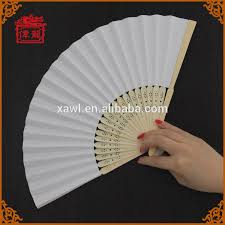 church fans personalized japanese simple style personalized white blank paper fans