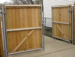 use chain link posts for wood driveway gates google search