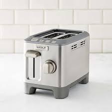 2 Slice White Toaster Wolf Gourmet 2 Slice Toaster Williams Sonoma