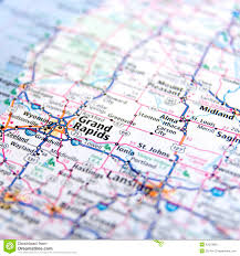 road map up michigan highway map up stock image image 42373869
