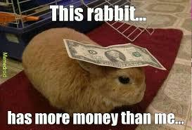 Money Meme - money bunny meme by zeyrin97 memedroid