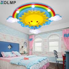 eclairage chambre enfant beau dessin animé enfant de lumière au plafond personnalité led